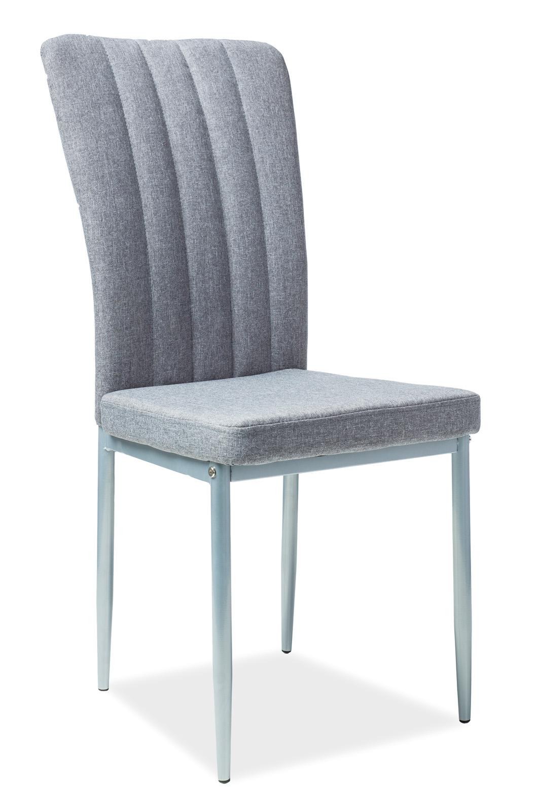 Krzesło H 733 szare białe tkanina Signal